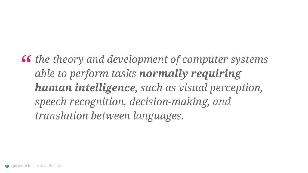 @maccath | Katy Ereira the theory and developme...