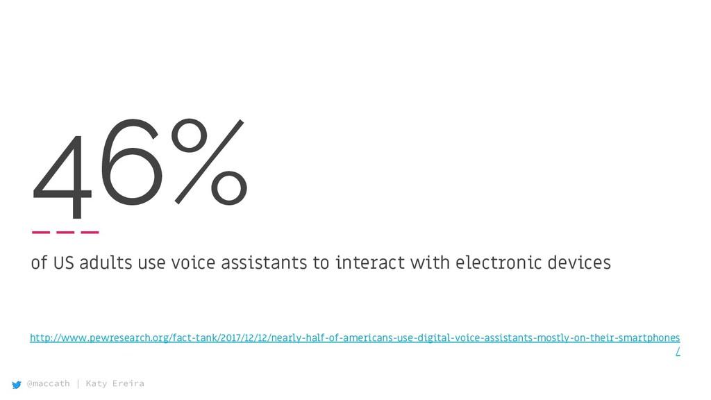 @maccath | Katy Ereira 46% of US adults use voi...
