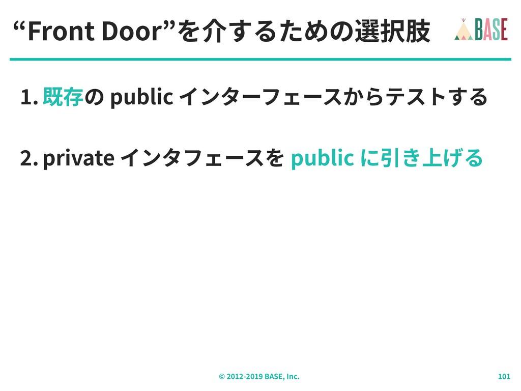 """© - BASE, Inc. """"Front Door""""を介するための選択肢 . 既存の pub..."""