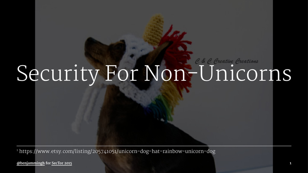 Security For Non-Unicorns 1 https://www.etsy.co...