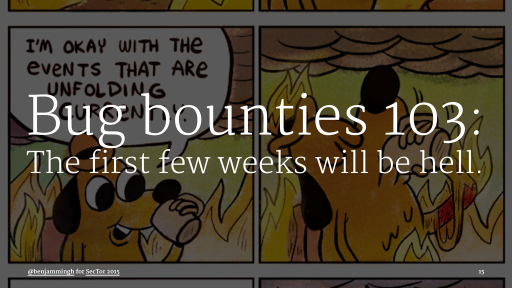 Bug bounties 103: The first few weeks will be h...