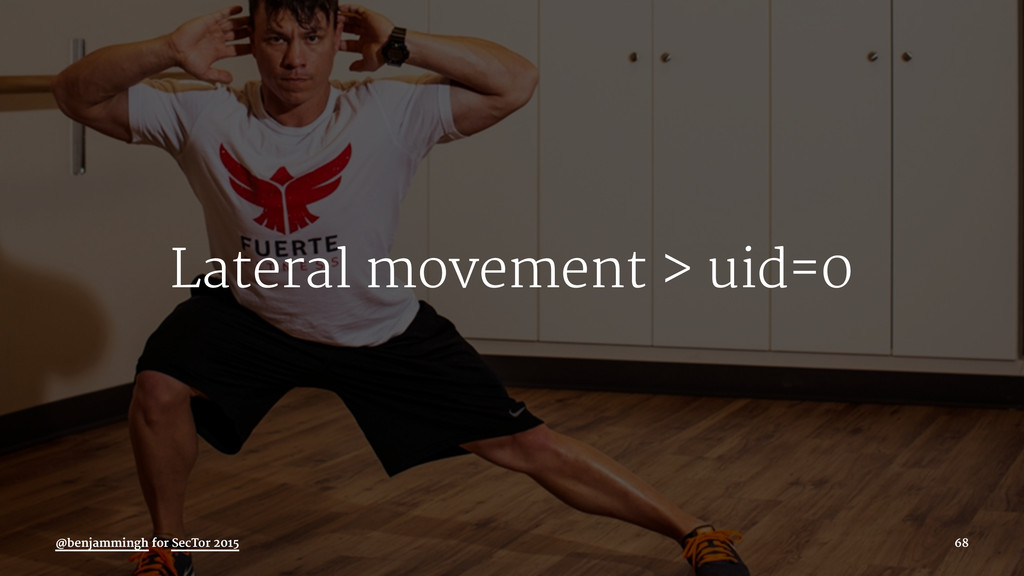 Lateral movement > uid=0 @benjammingh for SecTo...