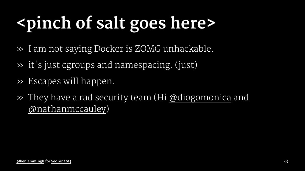 <pinch of salt goes here> » I am not saying Doc...