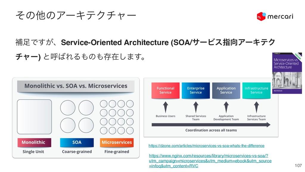 ͦͷଞͷΞʔΩςΫνϟʔ 107 ิͰ͕͢ɺService-Oriented Archite...