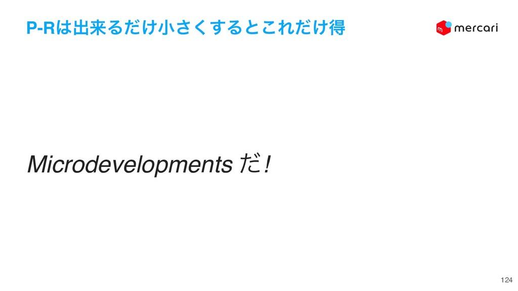 124 P-Rग़དྷΔ͚ͩখ͘͢͞Δͱ͜Ε͚ͩಘ Microdevelopments ͩ!