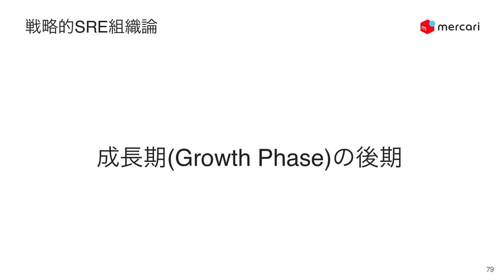 ઓུతSRE૊৫࿦ 79 ੒௕ظ(Growth Phase)ͷޙظ