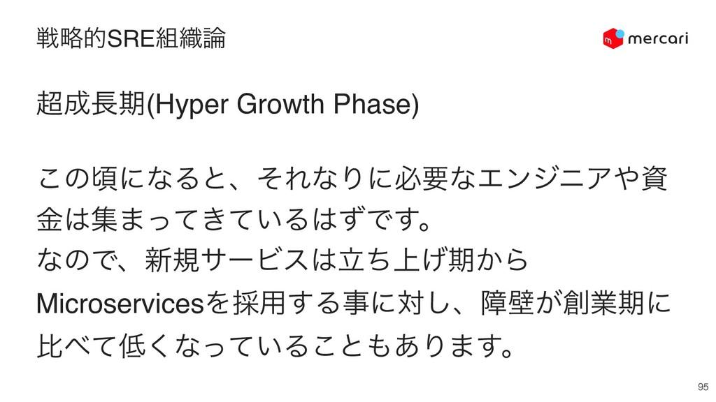 ઓུతSRE৫ 95 ظ(Hyper Growth Phase) ͜ͷࠒʹͳΔͱɺͦ...