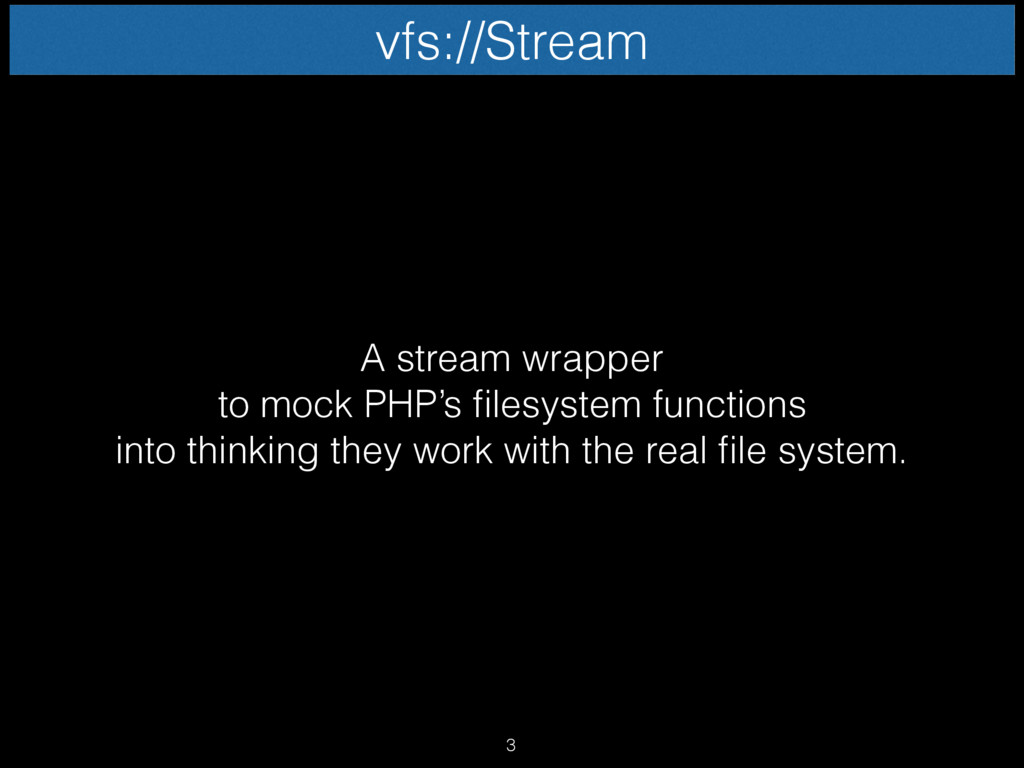 A stream wrapper to mock PHP's filesystem funct...