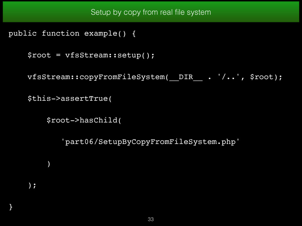 33 Setup by copy from real file system public fu...