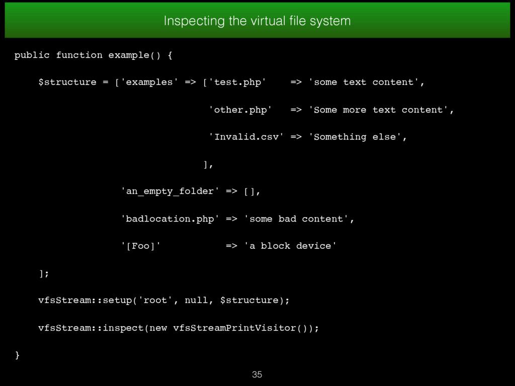 35 Inspecting the virtual file system public fun...