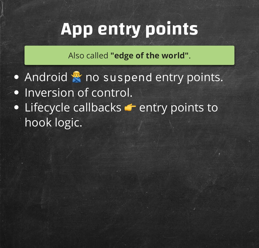 """App entry points Also called """"edge of the world..."""