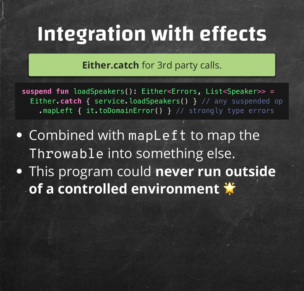 Integration with e ects Either.catch for 3rd pa...