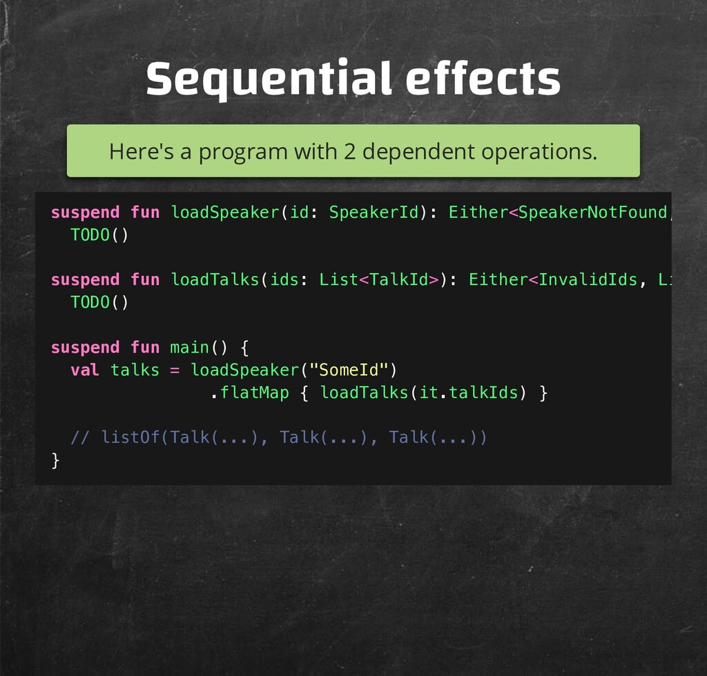 Sequential e ects Here's a program with 2 depen...