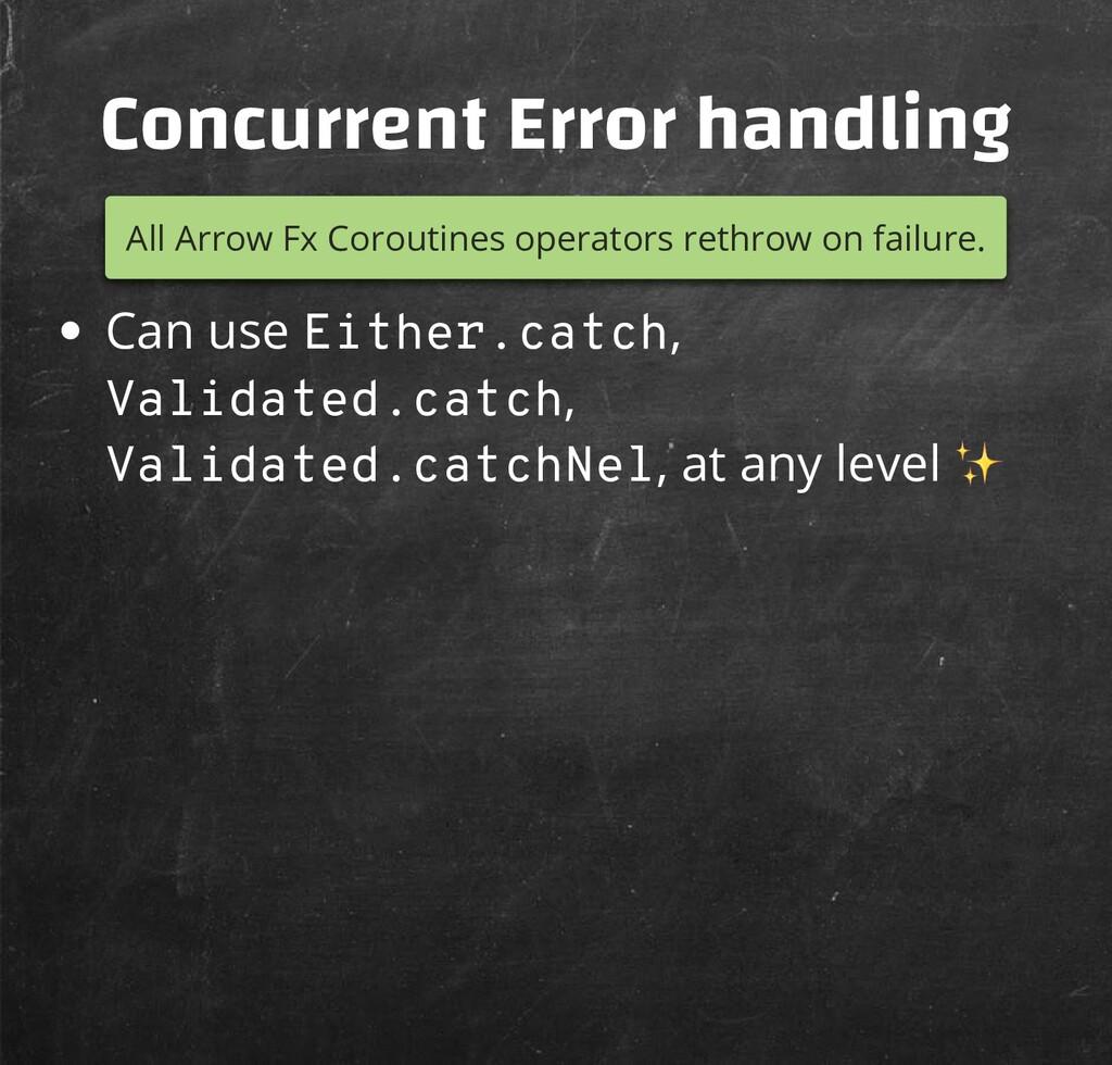 Concurrent Error handling All Arrow Fx Coroutin...
