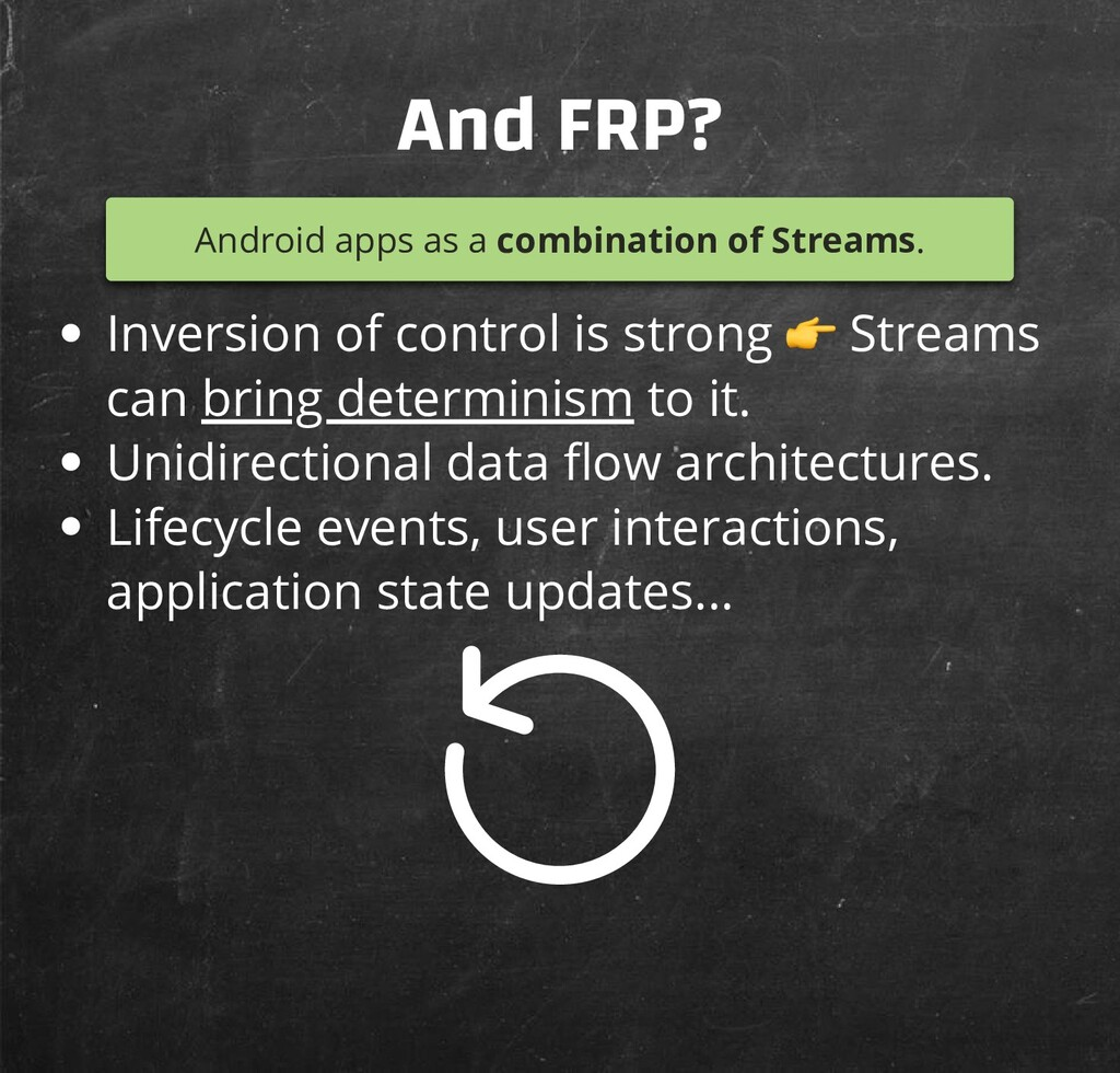 And FRP? Android apps as a combination of Strea...