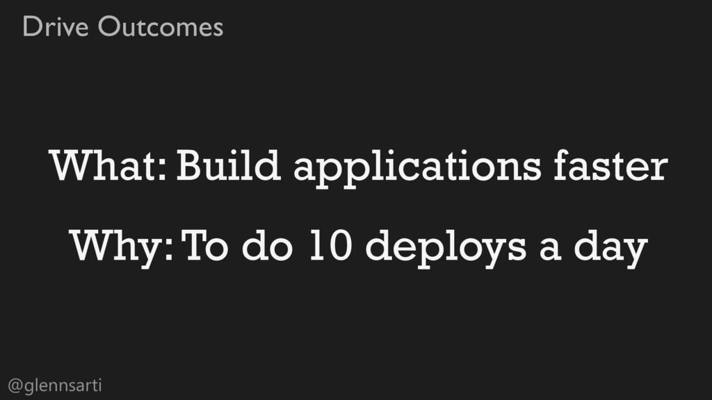 @glennsarti Drive Outcomes What: Build applicat...