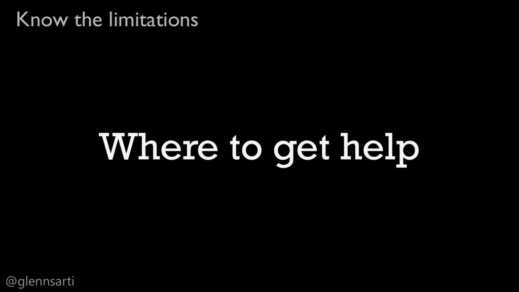 @glennsarti Know the limitations Where to get h...