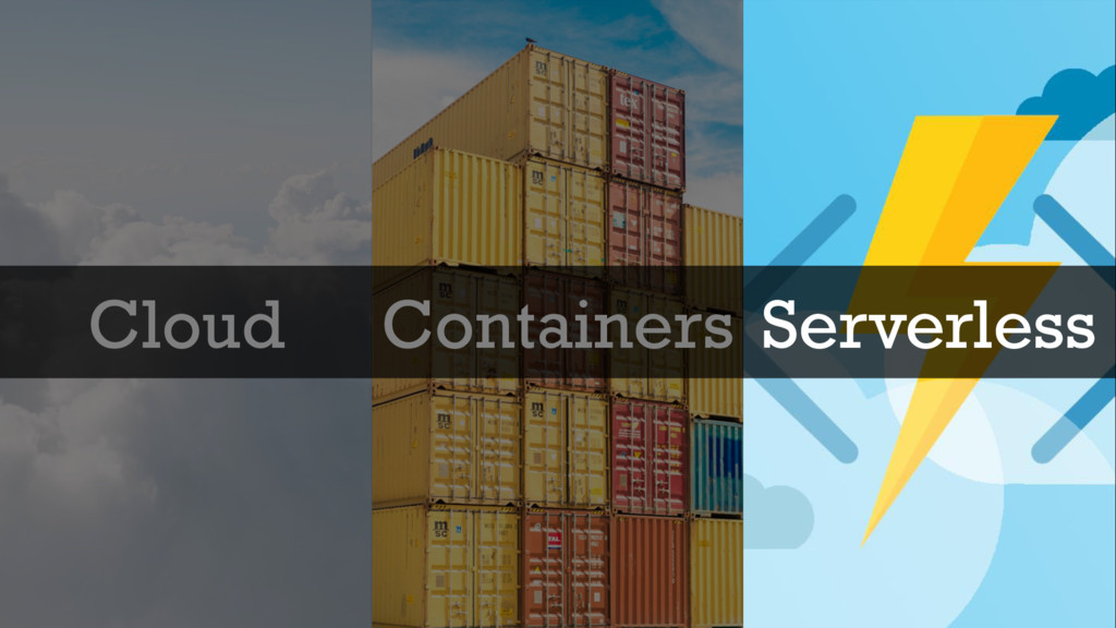@glennsarti Cloud Containers Serverless