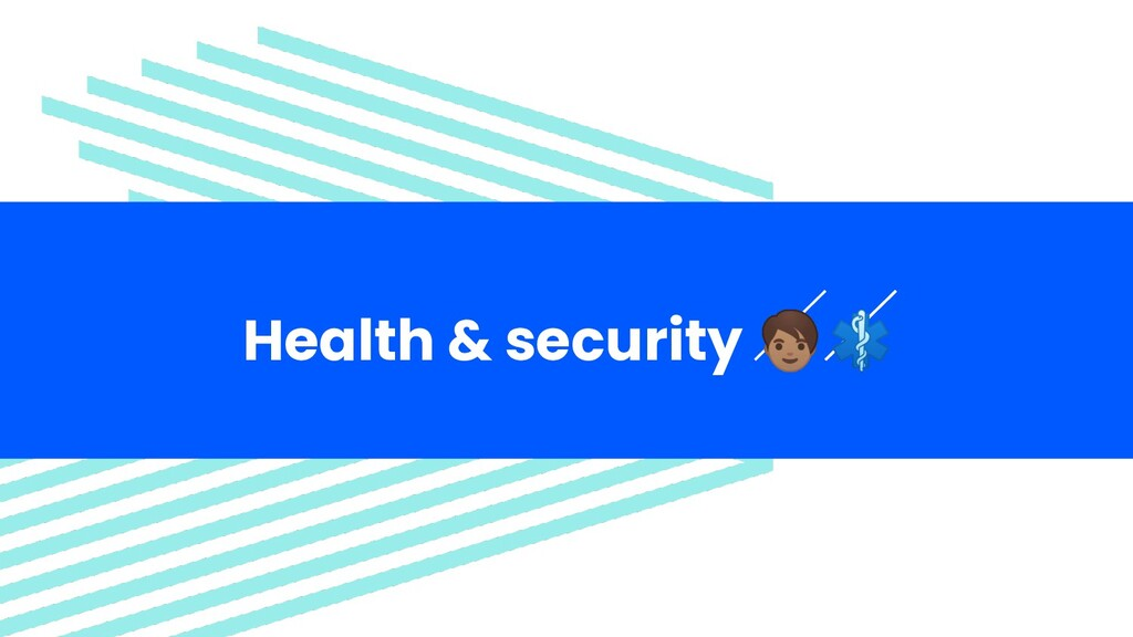 Health & security  ⚕