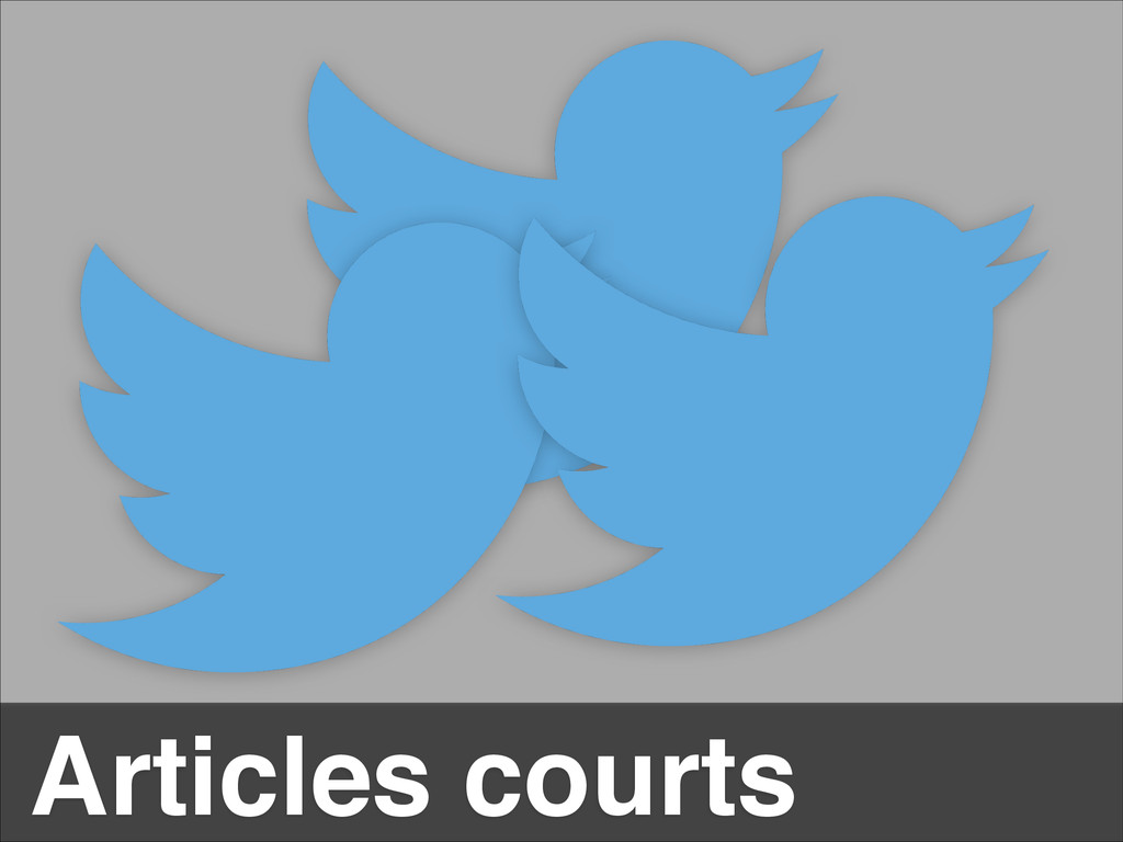 Articles courts