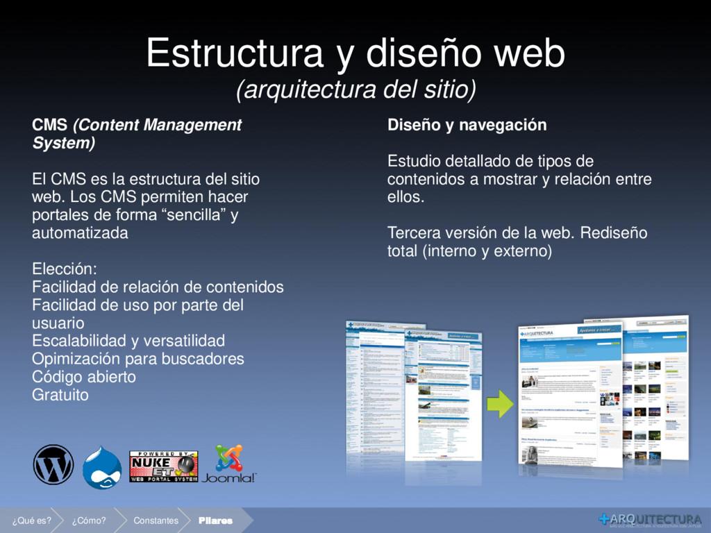 Estructura y diseño web (arquitectura del sitio...