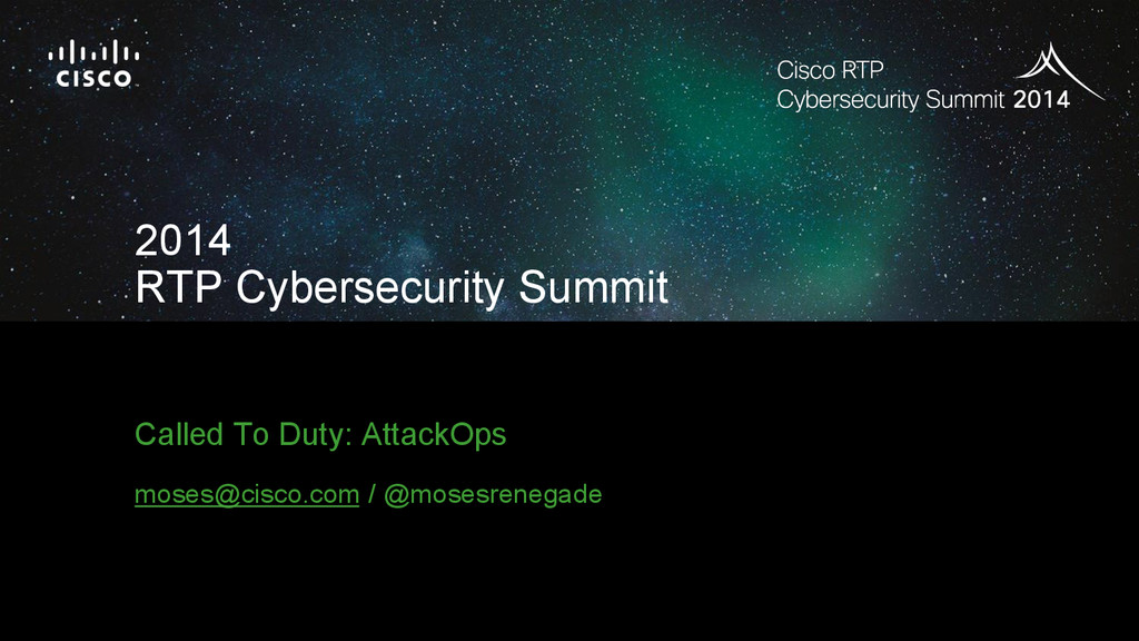 2014 RTP Cybersecurity Summit Session ID 18PT C...
