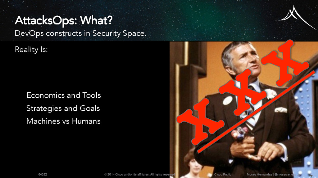 AttacksOps: What? DevOps constructs in Security...