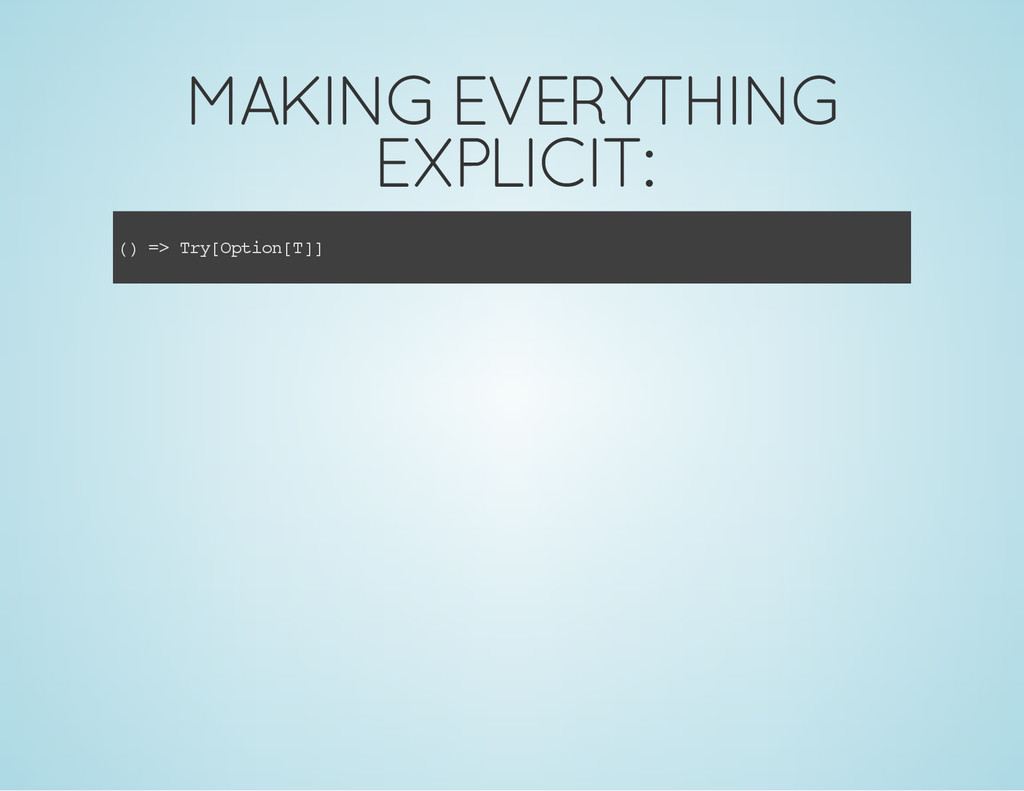 MAKING EVERYTHING EXPLICIT: ( ) = > T r y [ O p...