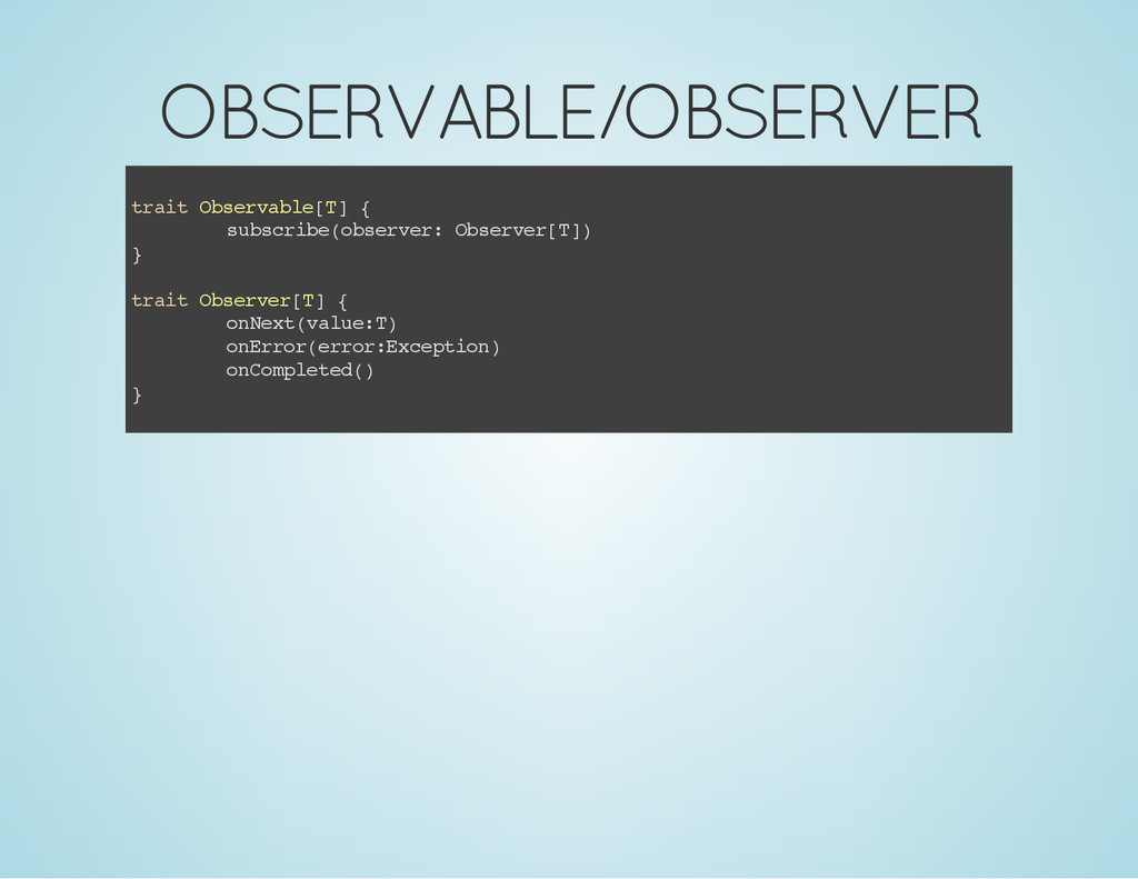 OBSERVABLE/OBSERVER t r a i t O b s e r v a b l...