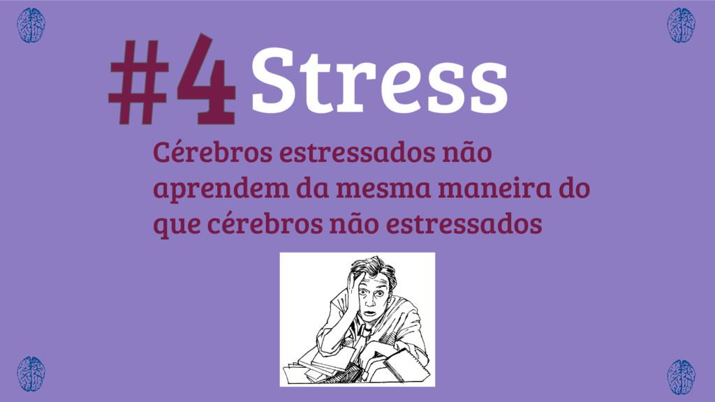 Cérebros estressados não aprendem da mesma mane...