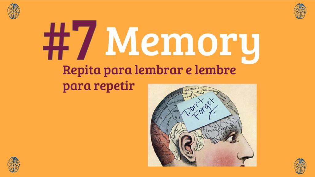 Repita para lembrar e lembre para repetir Memory