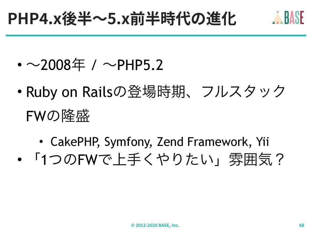 PHP .x後半〜5.x前半時代の進化 © - BASE, Inc. • ʙ2008 / ʙ...