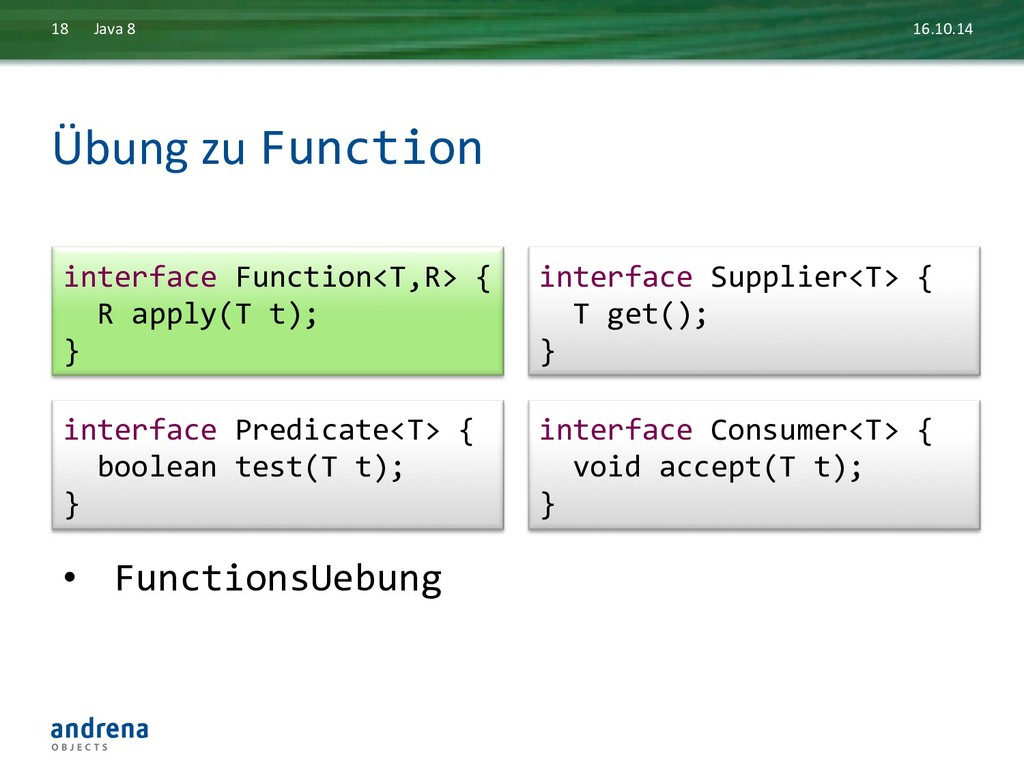 Übung zu Function  16.10.14  Java...