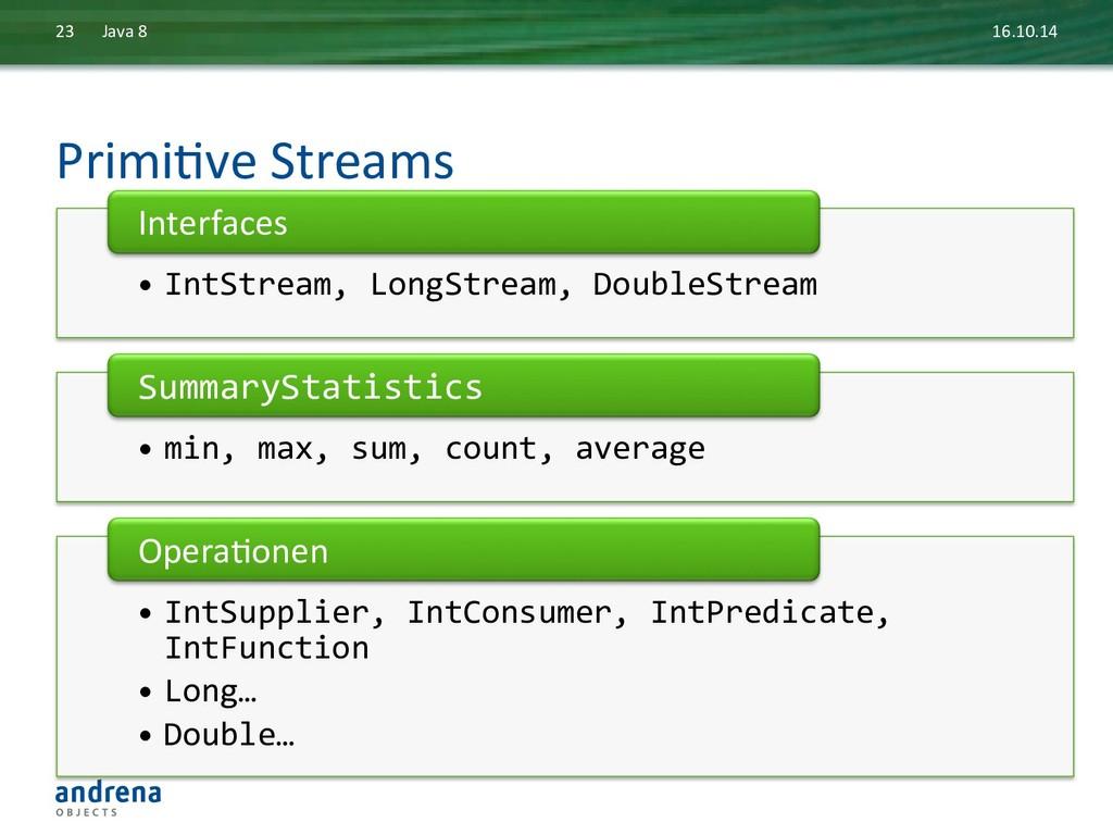 PrimiDve Streams  16.10.14  Java 8...