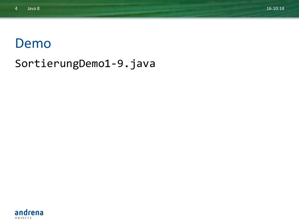 Demo  SortierungDemo1-‐9.java  16.10.14...