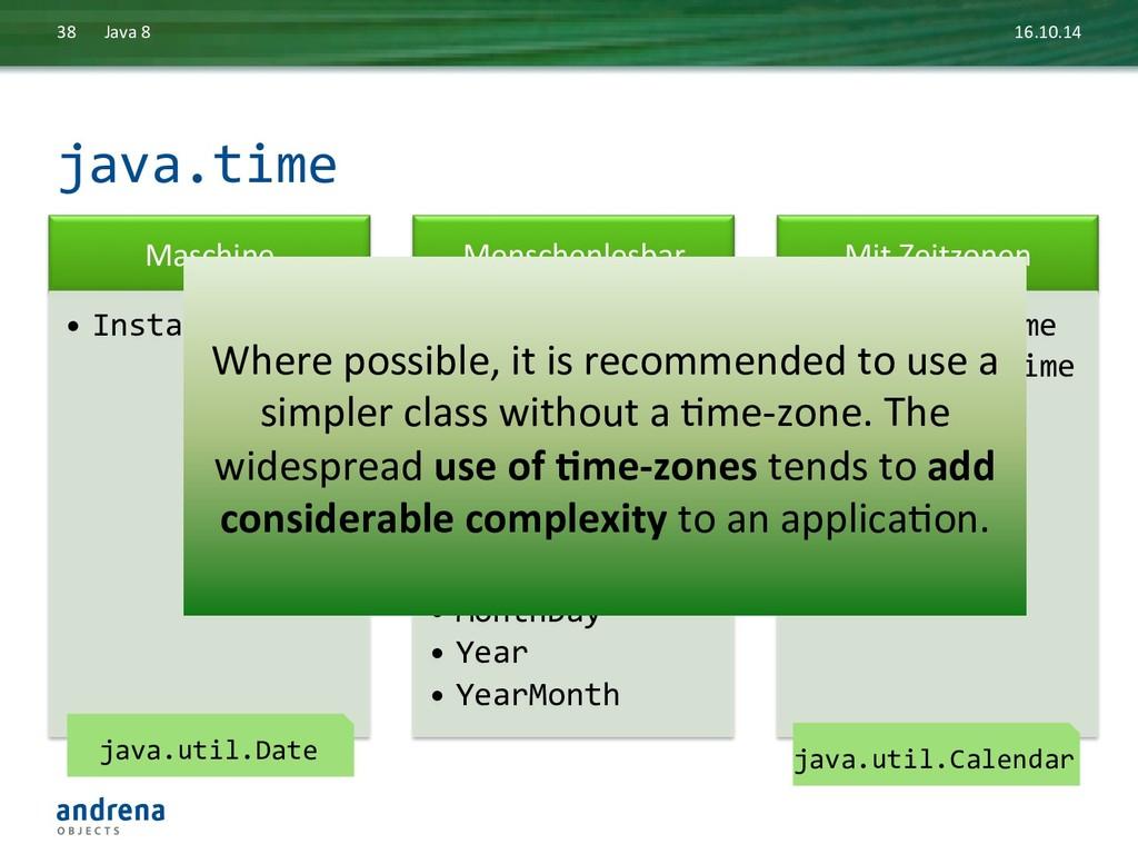 java.time  16.10.14  Java 8  38 ...