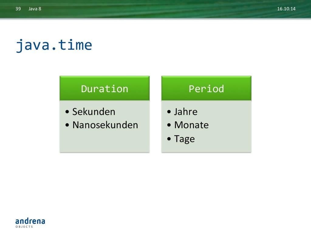 java.time  16.10.14  Java 8  39 ...