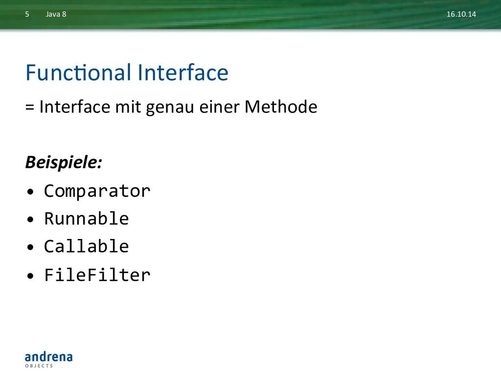 FuncDonal Interface  = Interface mi...