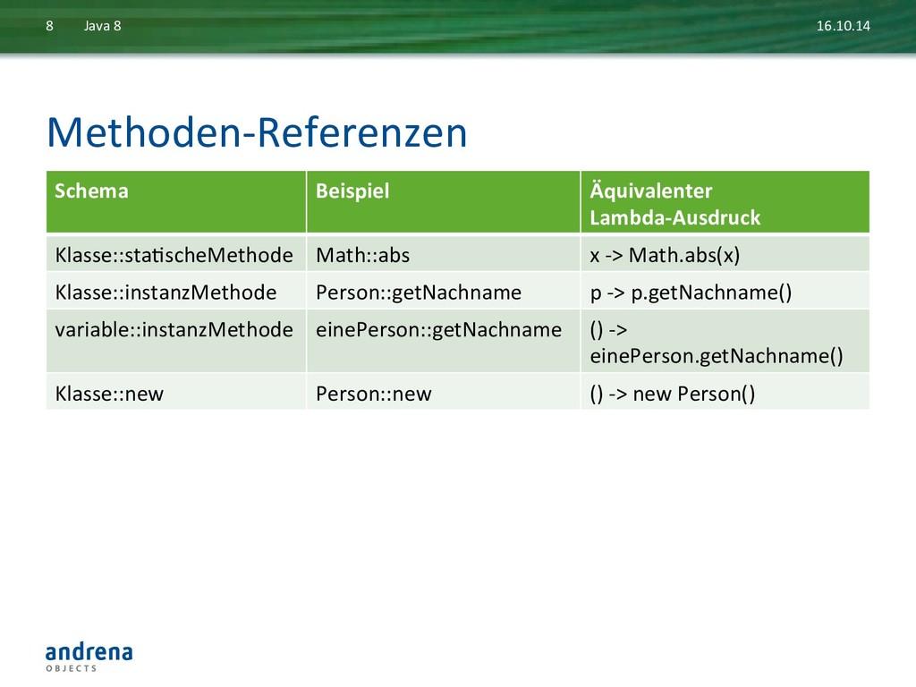 Methoden-‐Referenzen  16.10.14  Java ...