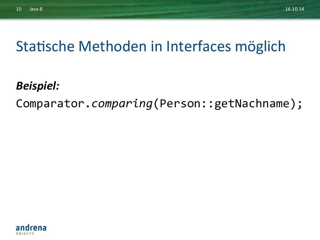 StaDsche Methoden in Interfaces mög...