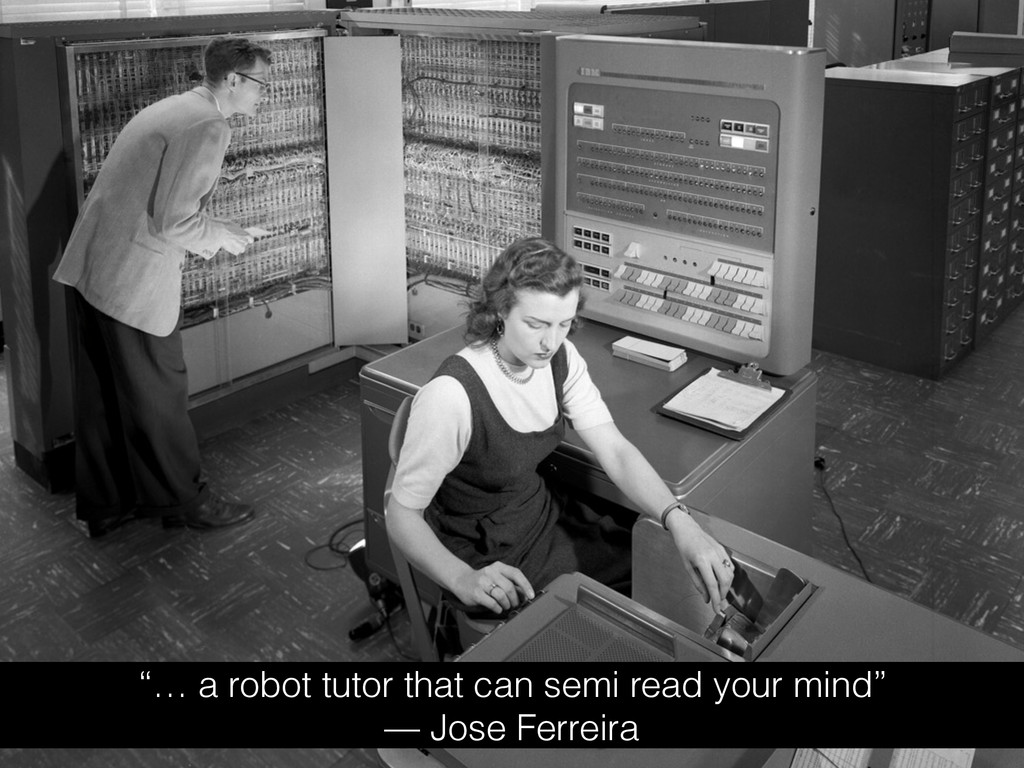 """""""… a robot tutor that can semi read your mind"""" ..."""