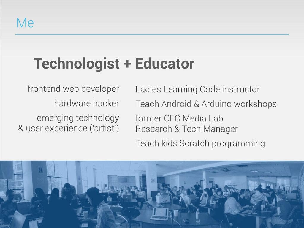 Me Technologist + Educator frontend web develop...