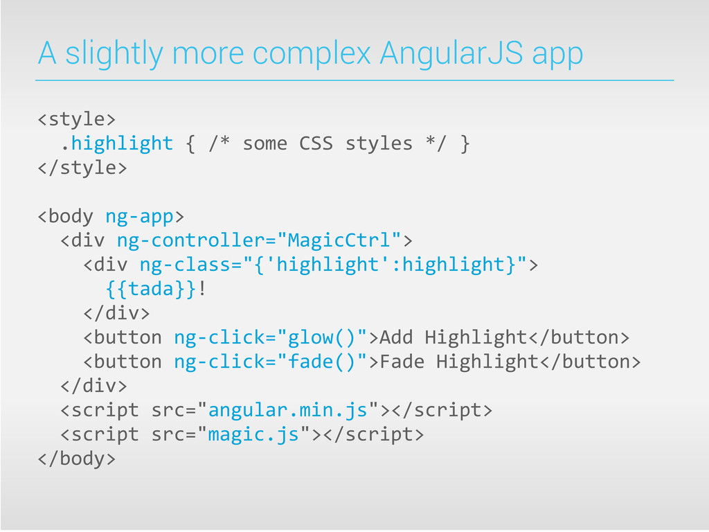 A slightly more complex AngularJS app <style> ...