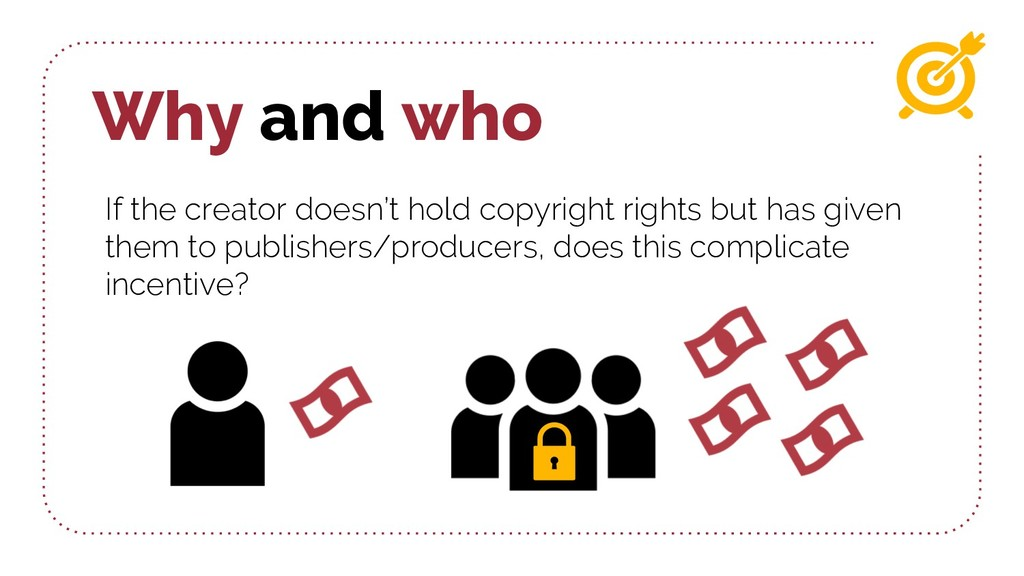 Why and who If the creator doesn't hold copyrig...