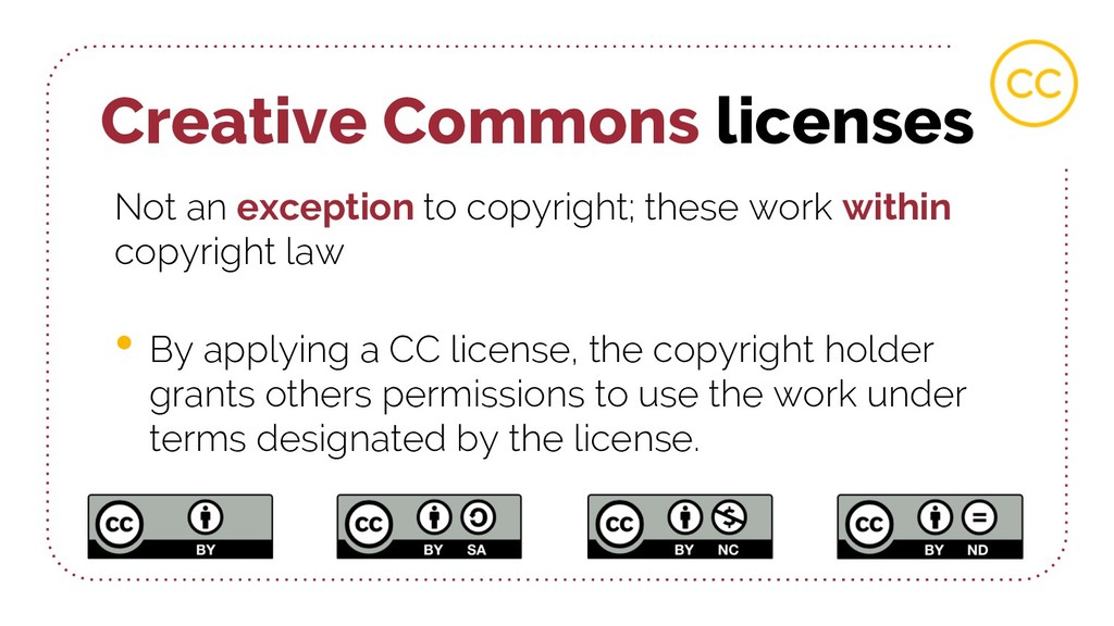 Creative Commons licenses Not an exception to c...
