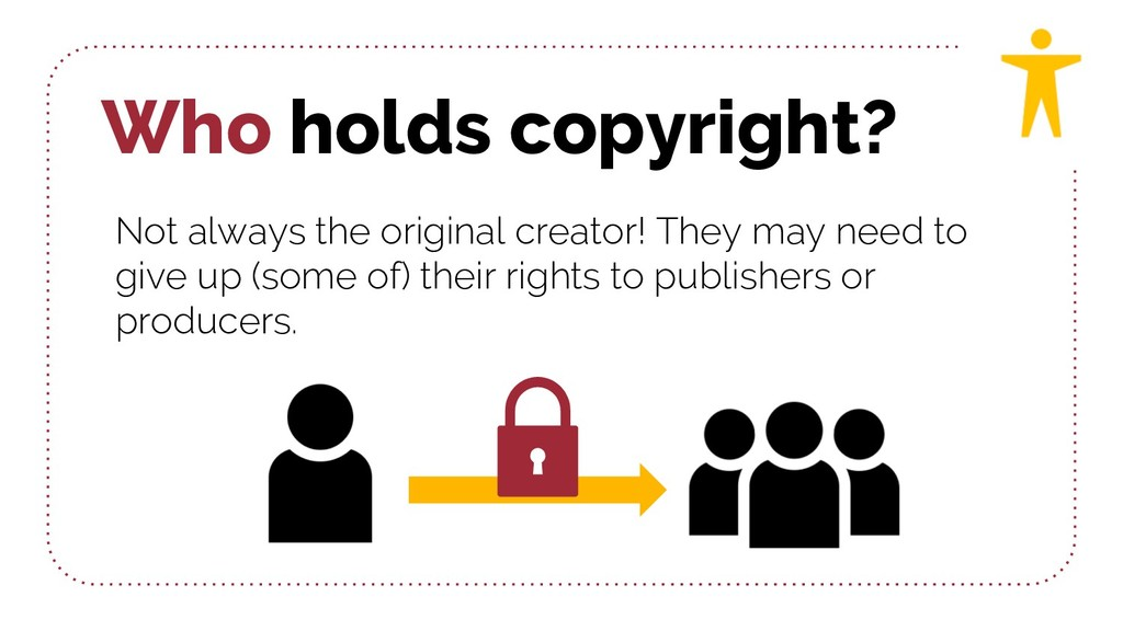 Who holds copyright? Not always the original cr...