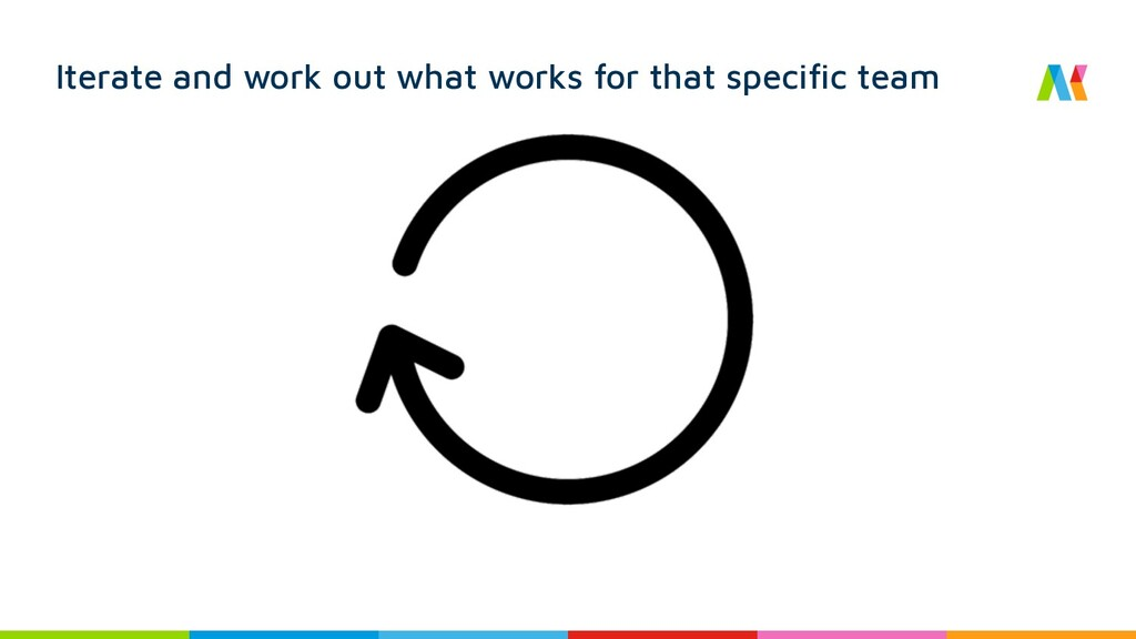 Iterate and work out what works for that specif...