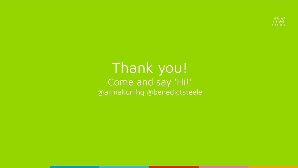 Thank you! Come and say 'Hi!' @armakunihq @bene...