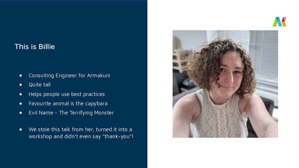 This is Billie ● Consulting Engineer for Armaku...